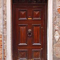 ornate wood door from venice 1