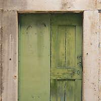 ruined paint old door green 9