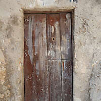 ancient very old rustic damaged door 10