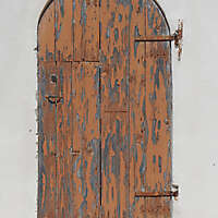 ancient very old rustic damaged door 11