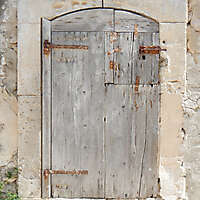 ancient very old rustic damaged door 9