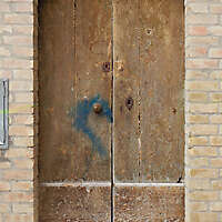 old door ruined paint