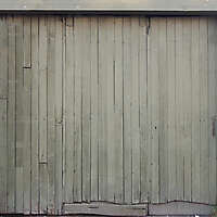 old planks garage door