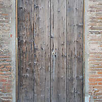 very ruined wood door 2