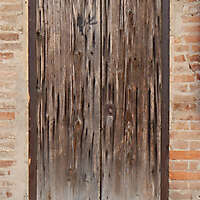 very ruined wood door 4