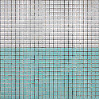 mosaic pool tiles green white