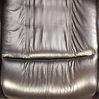 black leather backrest couch pillow