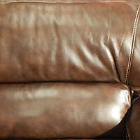 brown leather backrest pillow 1