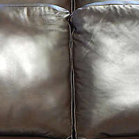 dark brown leather backrest pillow 4