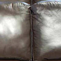 dark brown leather backrest pillow 4