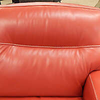 red leather backrest couch pillows 3