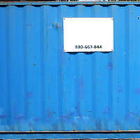 container blue