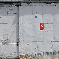 scrape paint on metal door