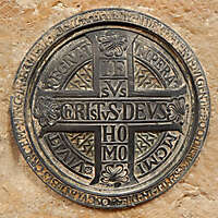 bronze emblem ornament with cross 3