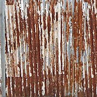 undulating rusty iron panel 1