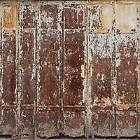 very rusty metal door from venice