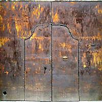 very rusty old portal