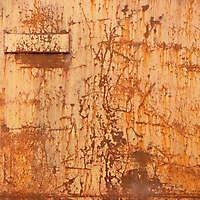 yellow paint rusty metal