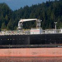 commercial oil tanker ship