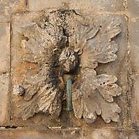 medieval fountain stone decoration 2