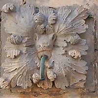 medieval fountain stone decoration 4