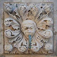 medieval fountain stone decoration 5
