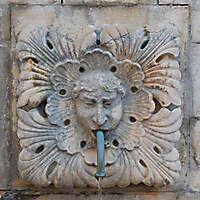 medieval fountain stone decoration 6