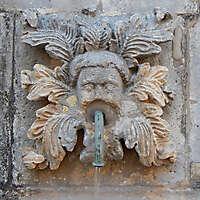 medieval fountain stone decoration 7