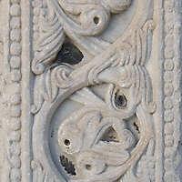 old broken stone ornament 38