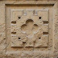 squared brown stone ornament