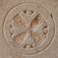 stone cross ornament 70