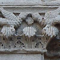 stone door ornament intact