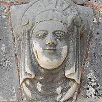 stone ornament face