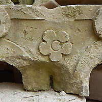 stone ornament with flower 25