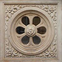 stone rosone window ornament 1