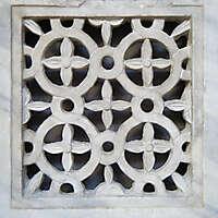stone window flowers