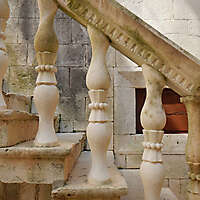 little stone pillars stairs 12