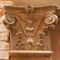stone capital pillar