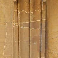 yellow stone greece pillar small