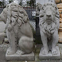 lion cement statue