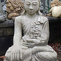 stone grey dwelling Buddha  2