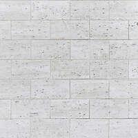 white stone long tiles