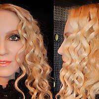 singer Madonna face texture