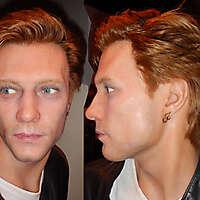 blonde guy white skin face
