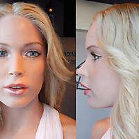 light blonde girl white skin 4