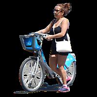 girl on bike png