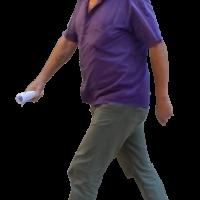 old man walking alpha