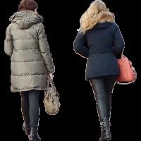 urban people walking back