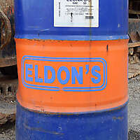 old petrol barrel