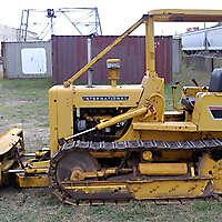 little old rusty bulldozer